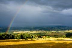 Paesaggio dopo la pioggia Fotografie Stock Libere da Diritti