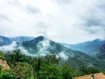Paesaggio drammatico della montagna Fotografie Stock