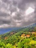 Paesaggio drammatico della montagna Immagini Stock Libere da Diritti