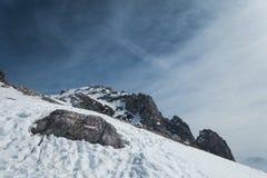 Paesaggio drammatico delle alpi in Austria Immagine Stock