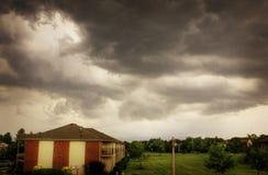Paesaggio drammatico delle nuvole Fotografie Stock Libere da Diritti