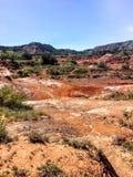 Paesaggio e canyon americani di sud-ovest dell'argilla rossa Immagini Stock