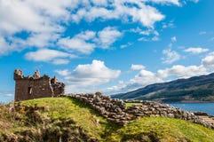 Paesaggio e castello della Scozia Fotografie Stock