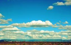 Paesaggio e cloudscape rurali Fotografie Stock