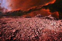 Paesaggio e Eagle Nebula stranieri (elementi di questa immagine forniscono Fotografie Stock Libere da Diritti