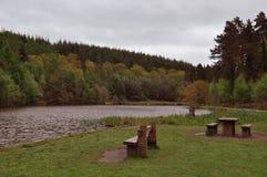 Paesaggio e laghi di autunno nella foresta di decano, Gloucestershire, Inghilterra Fotografie Stock Libere da Diritti