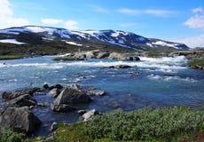 Paesaggio e montagne della Norvegia Fotografia Stock Libera da Diritti
