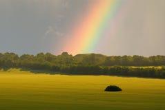 Paesaggio e Rainbow Immagine Stock Libera da Diritti