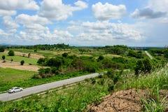 Paesaggio e strada principale alla provincia del rayong Immagini Stock Libere da Diritti