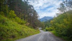 Paesaggio e strada principale della montagna Fotografie Stock