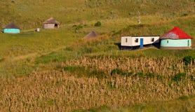Paesaggio e strutture del campo Fotografie Stock Libere da Diritti