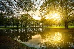 Paesaggio e tramonto Immagine Stock Libera da Diritti