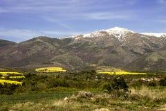 Paesaggio e valle della montagna immagini stock libere da diritti