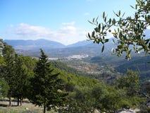 Paesaggio e villaggio Immagine Stock