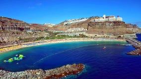 Paesaggio e vista di bello Gran Canaria alle isole Canarie, Spagna fotografie stock libere da diritti