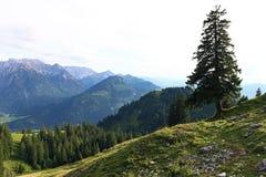 Paesaggio ed alpinismo della montagna nelle alpi di Allgaeu Fotografie Stock
