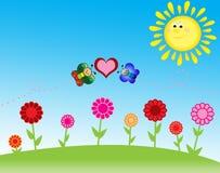 Paesaggio ed amore Immagine Stock