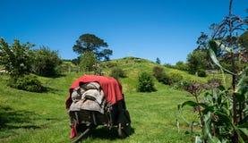Paesaggio ed azienda agricola del giardino della campagna Immagini Stock