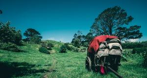 Paesaggio ed azienda agricola del giardino della campagna Fotografia Stock