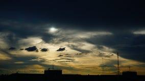 Paesaggio ed ombra crepuscolari del cielo Fotografie Stock Libere da Diritti