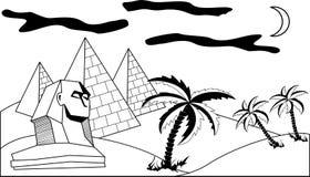 Paesaggio egiziano illustrazione di stock