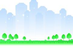 Paesaggio enigmatico della città di mattina Immagine Stock Libera da Diritti