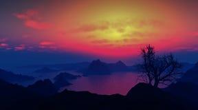 Paesaggio epico Fotografia Stock
