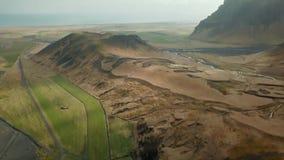 Paesaggio epico dell'Islanda stock footage
