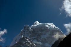 Paesaggio epico della montagna dell'Himalaya, Nepal immagine stock libera da diritti