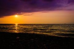 Paesaggio epico di tramonto dell'oceano Immagine Stock Libera da Diritti