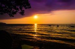 Paesaggio epico di tramonto dell'oceano Fotografie Stock