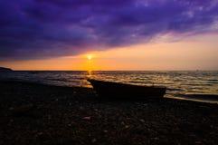 Paesaggio epico di tramonto dell'oceano Fotografia Stock Libera da Diritti