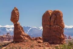 Paesaggio equilibrato della roccia Immagine Stock