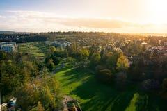 Paesaggio erboso all'aperto Autum di Stuttgart Germania del parco di Killesberg immagini stock libere da diritti