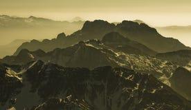 Alpi mistiche di Europa Fotografie Stock Libere da Diritti