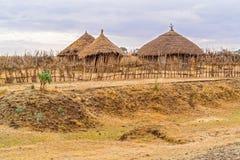 Paesaggio in Etiopia vicino a Gebre Guracha Immagini Stock Libere da Diritti