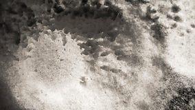 Paesaggio extraterrestre astratto Bicarbonato di sodio; prodotto di reazione chimica dell'all'aceto; acetato del sodio; ghiaccio  immagini stock libere da diritti