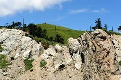 Paesaggio famoso della Taiwan: Montagna di Hehuan in taroko Fotografia Stock