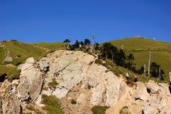 Paesaggio famoso della Taiwan: Montagna di Hehuan in taroko Fotografie Stock Libere da Diritti