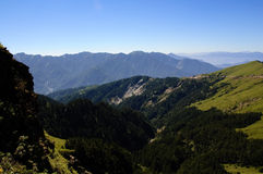 Paesaggio famoso della Taiwan: Montagna di Hehuan in taroko Immagine Stock Libera da Diritti