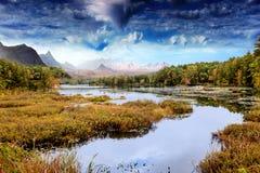 Paesaggio fantastico fotografia stock libera da diritti