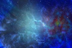 Paesaggio fantastico Al bordo della galassia fotografia stock