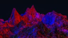 Paesaggio fantastico 3d rendono illustrazione di stock