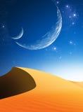 Paesaggio fantastico del deserto Fotografie Stock Libere da Diritti