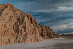Paesaggio fantastico del parco di stato della gola della cattedrale al tramonto nel Nevada fotografie stock