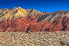 Paesaggio fantastico della montagna nella riserva naturale nazionale Altyn Emel kazakhstan fotografia stock libera da diritti