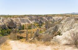 Paesaggio fantastico di Cappadocia turco fotografie stock