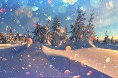 Paesaggio fantastico di inverno fotografia stock