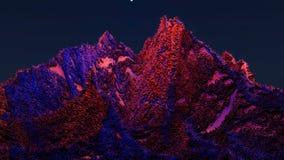 Paesaggio fantastico la superficie del pianeta rappresentazione 3d illustrazione vettoriale