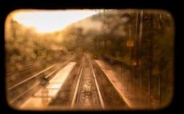 Paesaggio ferroviario d'annata Fotografia Stock Libera da Diritti
